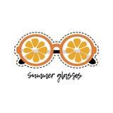 Orange exponeringsglas Arkivbild