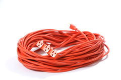 Orange Extension Cord Royalty Free Stock Photography