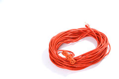 Orange Extension Cord royalty free stock photo
