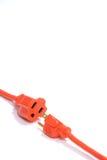 Orange Extension Cord Royalty Free Stock Image