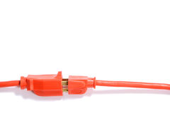 Orange Extension Cord Royalty Free Stock Photos
