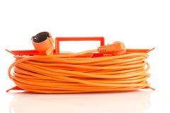 Orange extension cord Stock Photo
