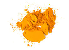 Orange eye shadow crushed Royalty Free Stock Photos