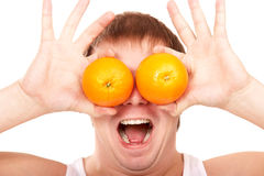 Orange eyes Stock Image