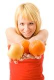 Orange eyes Royalty Free Stock Image