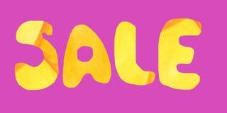 Orange färg för inskriftförsäljning på en rosa bakgrund vektor illustrationer