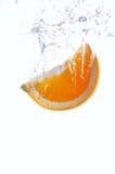 orange färgstänk Royaltyfri Fotografi