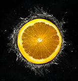 orange färgstänk Royaltyfri Foto