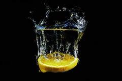 orange färgstänk Royaltyfria Bilder