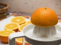 orange för 2 fruktsaft Arkivbilder