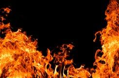 orange för brandram half Arkivfoton