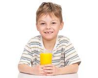 orange för fruktsaft för pojke dricka little Royaltyfria Foton