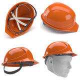 orange för hård hatt 3d Royaltyfria Foton