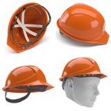 orange för hård hatt 3d Royaltyfri Bild