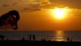 orange för hav 3d över framförd platssolnedgång stock video