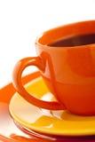 orange för kaffekopp Arkivfoto