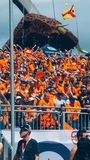 Orange fans, Dutch F1 race fans stock photography
