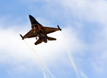 Orange F16 Royalty Free Stock Photos