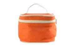 Orange fabric bag Royalty Free Stock Images