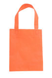 Orange fabric bag Stock Images
