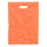 Orange fabric bag Stock Photo