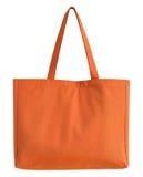 Orange fabric bag isolated on white Stock Image