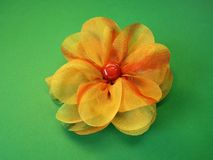 Orange fabric flower Royalty Free Stock Image
