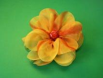 Orange fabric flower Royalty Free Stock Image
