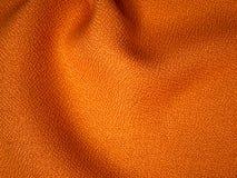 Orange fabric sample. Orange fabric texture sample for interior design Royalty Free Stock Photography