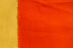 Orange fabric texture Royalty Free Stock Photography