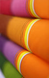 Orange fabrics Royalty Free Stock Photography