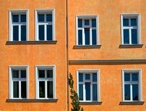 Orange facade stock photo