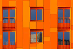 Orange facade Royalty Free Stock Photo