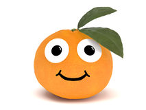 Orange with face Stock Image