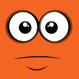 Orange face Royalty Free Stock Image