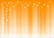 Orange Fading Business Graphic. With dots and suqares overlaid Royalty Free Stock Photography