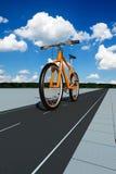 Orange Fahrrad Lizenzfreie Stockfotografie
