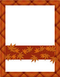 Orange Fall Frame for your message or invitation Royalty Free Stock Images