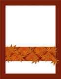 Orange Fall Frame for your message or invitation. With copy-space in the middle Stock Images