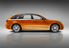 Orange Family Car Royalty Free Stock Photography