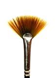 Orange fan art brush close up isolated. Stock Photo