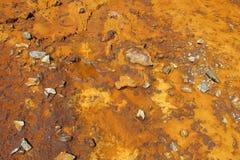 Orange Farbboden und Wassermuster Stockbild