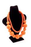 Orange Farbenhalskette Lizenzfreie Stockbilder