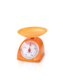 Orange Farbküchenskala Stockbild