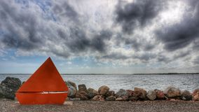 Orange fartyg Arkivfoto