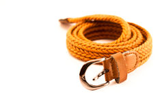 Orange fashion belt Stock Photo