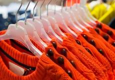 Orange Fashionable clothes Stock Photo