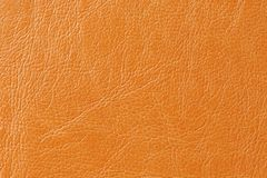 Orange Faux Leather Background Texture Stock Photography