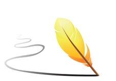 Orange feather Royalty Free Stock Photos