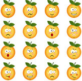 Orange with feature a different expression Stock Images